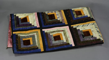 Log Cabin Quilt Pattern with Easy Applique Alternate Blocks