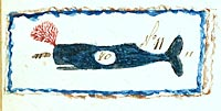 whale stamp detail